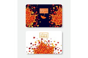 Fall shopping certificates templates