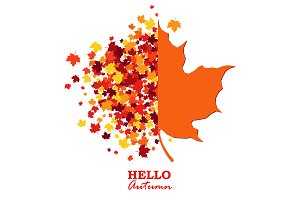 Autumn vector greeting card