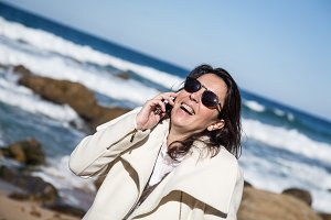Attractive woman talking on the phon
