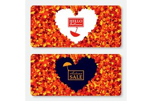 Sale gift card layout template
