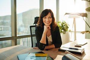Beautiful female executive