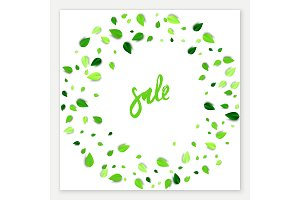 Summer sale vector square banner