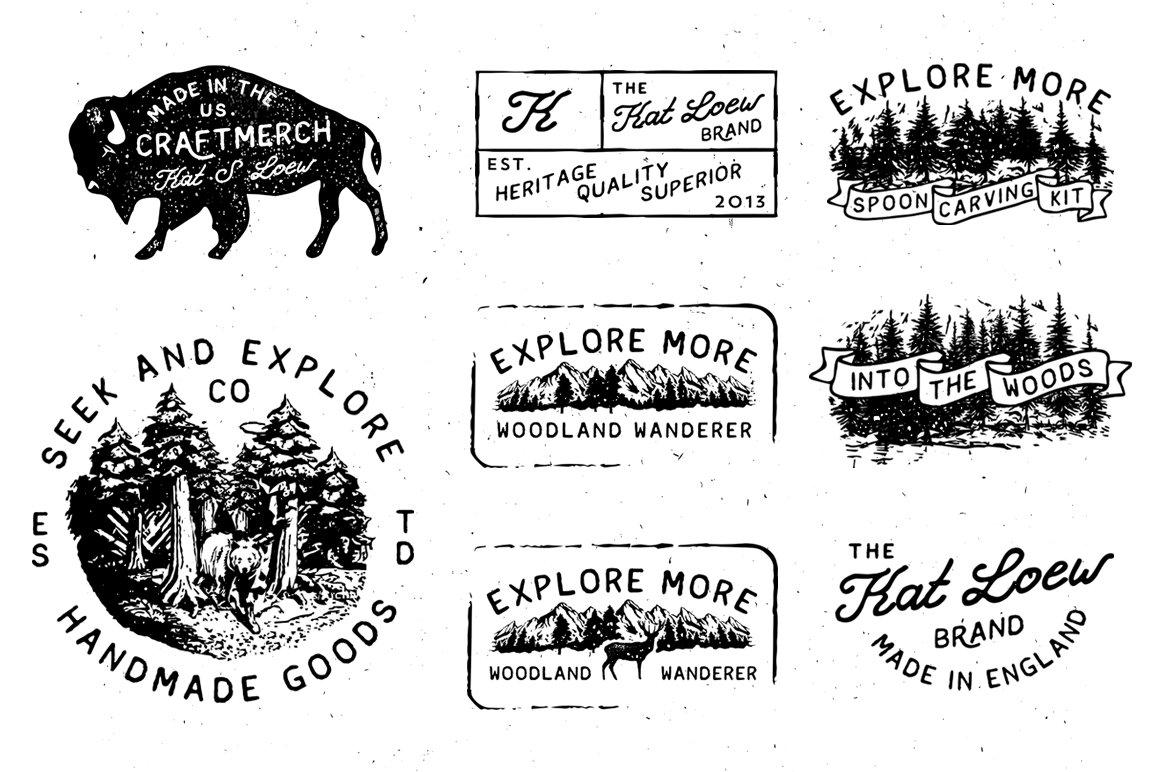 Vintage logo template + Barn Door ~ Templates ~ Creative Market
