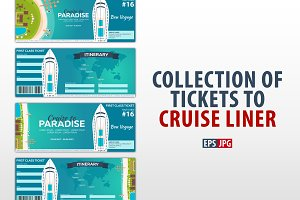 Template of Tickets to Cruise liner