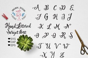 Script Vector Font For Crafters