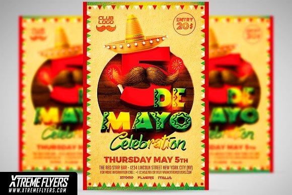 cinco de mayo flyer template flyer templates creative market
