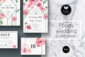 Poppies Wedding Template