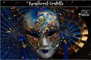 5K Translucent Confetti Overlays