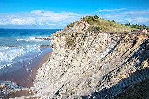 Cliffs in Zumaia, Spain