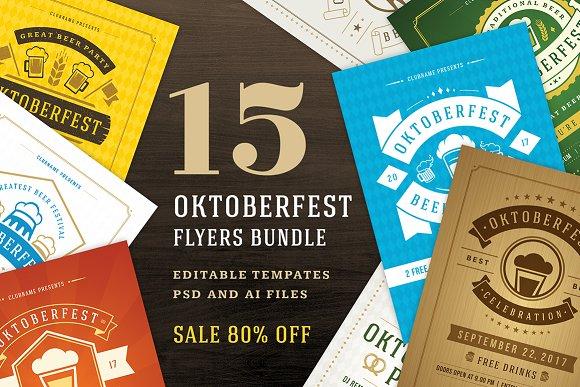 15 Oktoberfest Flyers Templ-Graphicriver中文最全的素材分享平台