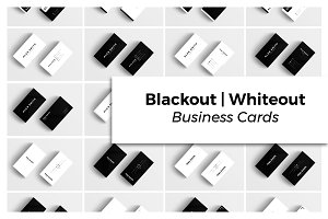 Blackout | Whiteout Business Cards