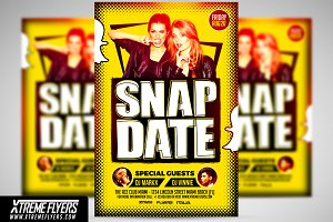 Snapdate Party Flyer Template