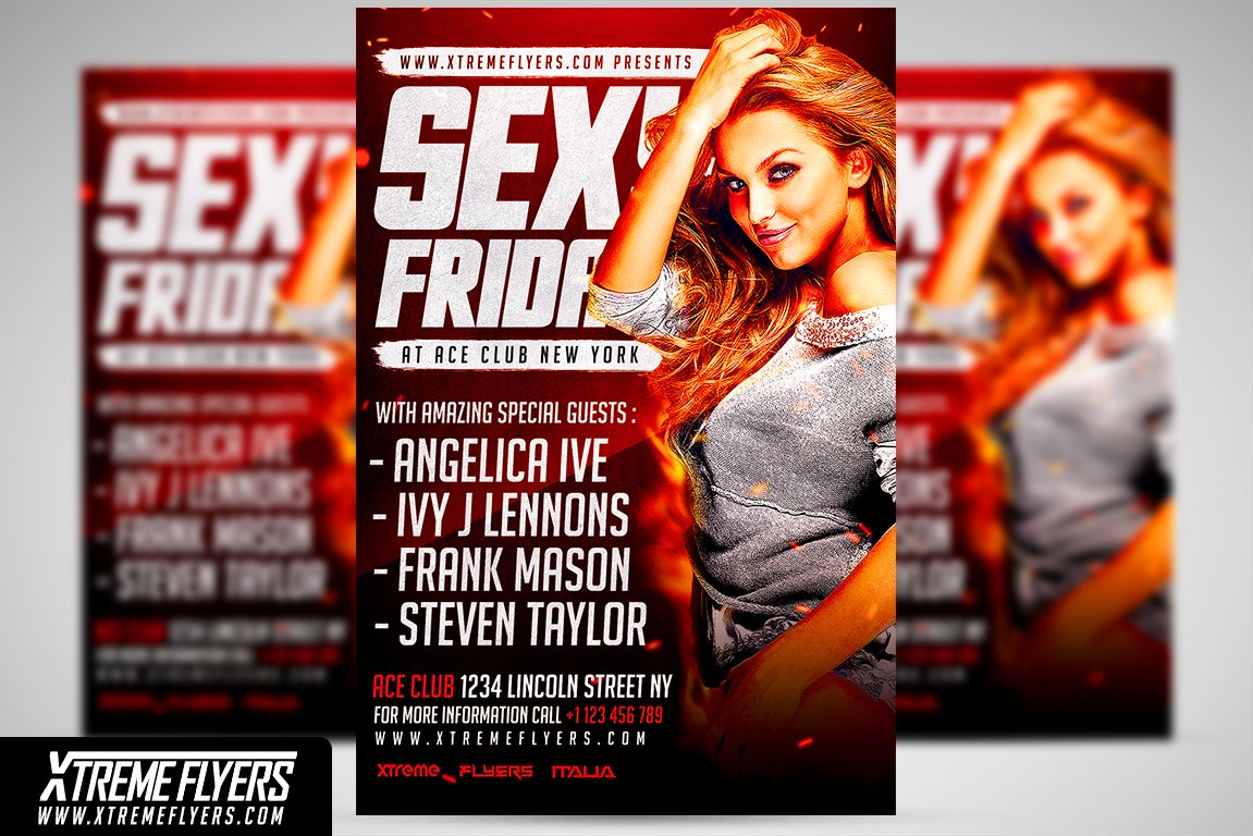 night club flyer template flyer templates creative market