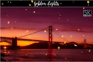 5K Golden Lights Overlays
