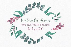 Embellished Frames: flowers & leaves