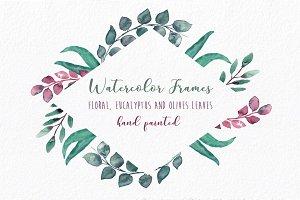 Embellished Frames: flowers & leaves