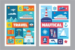 Travel & Nautical - Flat Posters