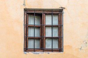 Vintage lattice window