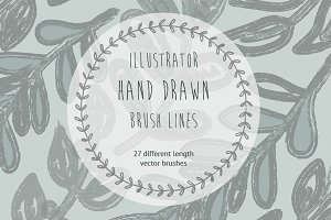 Hand Drawn Illustrator Brushes