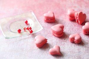 Pink Macaron Hearts