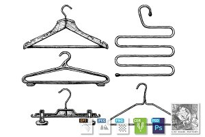 Set of coat hanger