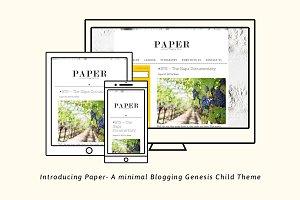 Paper - Minimal Genesis Blog Theme