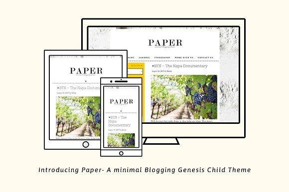 Paper Minimal Genesis Blog Theme