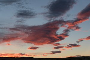 Abstract Cloud Formation at Sunset