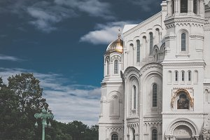 Naval Cathedral of St. Nicholas in Kronstadt, Saint Petersburg, Russia