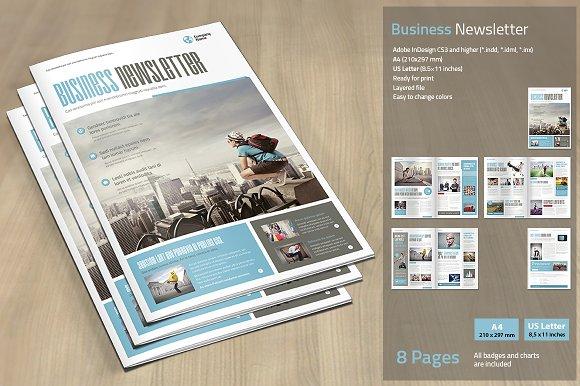business newsletter brochure templates creative market