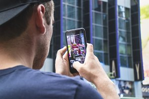 Taking photo of Time Square
