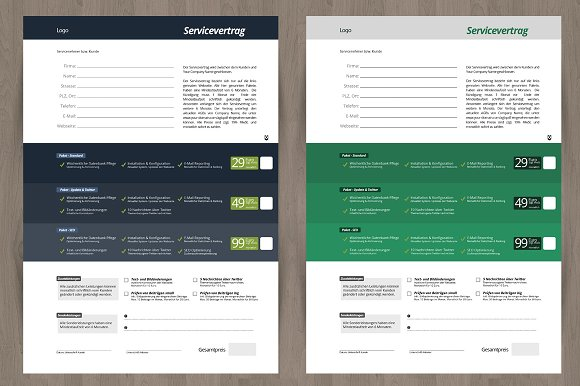 Service Contract And Proposal Stationery Templates Creative Market