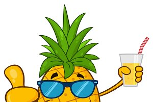 Pineapple Fruit With Sunglasses