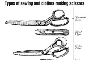 sewing and clothes-making scissors
