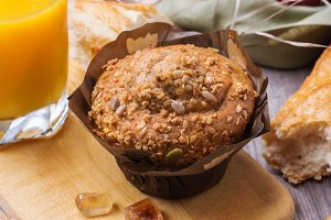 Healthy muffin cake for breakfast