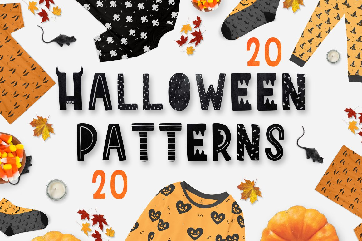 20 halloween patterns pack! ~ Graphic Patterns ~ Creative ...