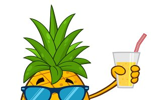 Pineapple Fruit Mascot Character