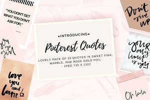 Pinterest quote collection