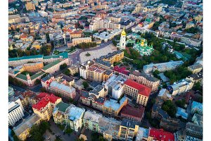 Aerial view of the Kiev, Ukraine