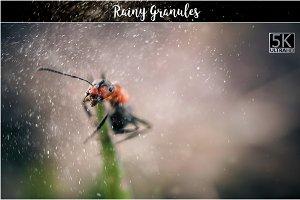 5K Rainy Granules Overlays