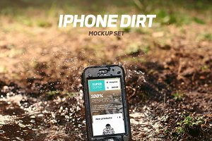 iPhone Dirt Mockup Set