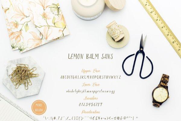 Best Lemon Balm Font Duo + Extras! Vector