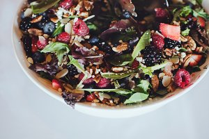 Healthy Fruit and Nut Salad