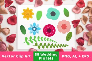 Floral Wedding Clipart
