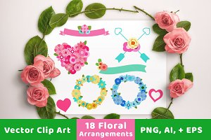 Floral Wedding Banner + Wreaths