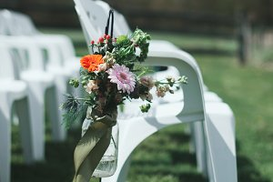 Backyard Wedding Ceremony Chairs