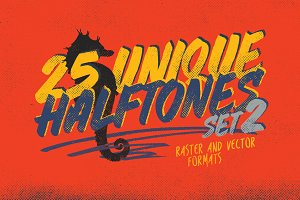 25 Halftones Texture Pack 2 + Bonus