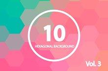 10 Hexagonal Backgrounds. Vol. 3