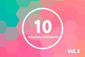 10 Hexagonal Backgrounds. Vol. 3