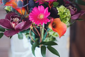 Colorful Wildflower Bridal Bouquet